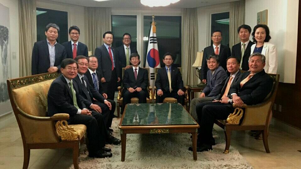 한국상사지사협의회(KITA) 임원단 초청 관저만찬 개최