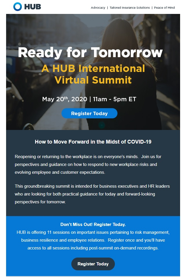 Ready For Tomorrow? Register for HUB's Virtual Summit Today